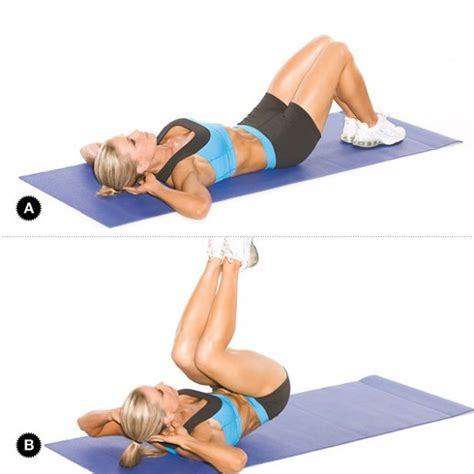 reverse crunches on bench 15 minute full body fat blast workout daily fit tip