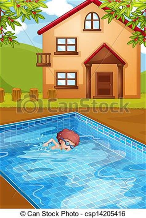 swimming illustrations and clipart can stock photo vector clip art of a boy swimming at the pool in his