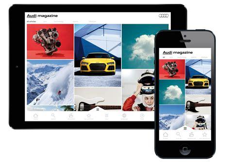 magazine layout application audi magazine app entry if world design guide