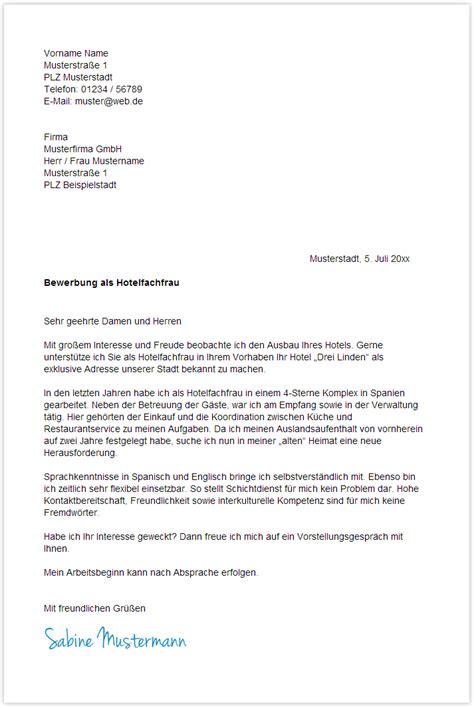 Bewerbungsschreiben Praktikum Hotelfachfrau Vorlage Bewerbungsschreiben Hotelfachfrau Hotelfachmann