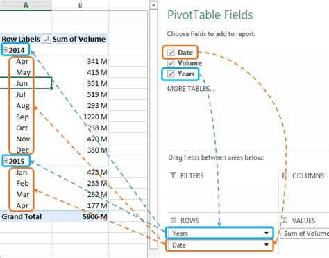 create a single excel slicer for year and month my