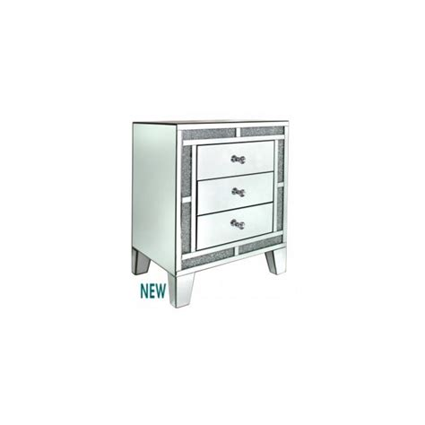 Mirror Bedside Drawers by Mirror 3 Drawer Bedside L Table