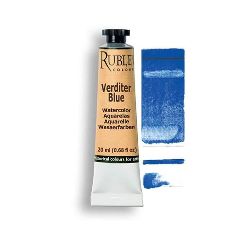 verditer blue verditer blue watercolor paint natural pigments