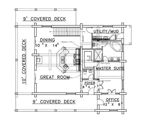 rustic floor plans lodgepole rustic log home plan 088d 0323 house plans and