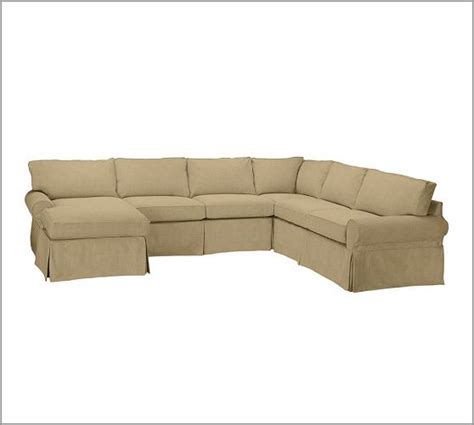 pottery barn basic slipcover details about pottery barn pb basic 3pc sectional sofa