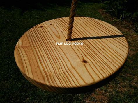 wooden disc swing pine disc tree swing