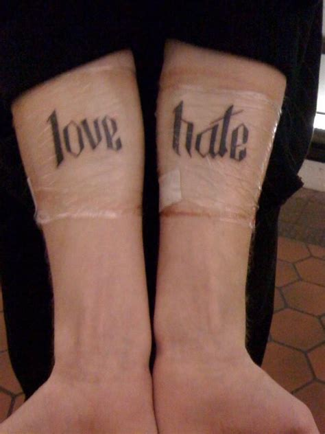 love and hate tattoos and quotes quotesgram