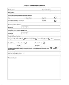 Loan Application Format by Sle Student Application Forms 14 Free Documents In