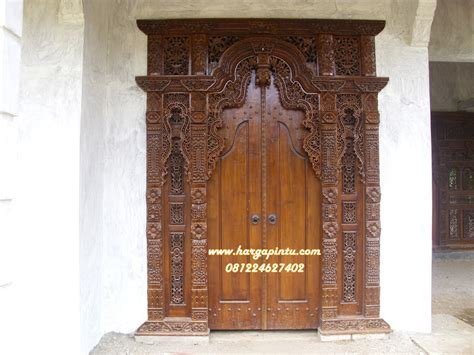 model pintu gebyok ukir harga murah jati jepara harga pintu