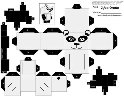 Papercraft Panda - cubee panda by cyberdrone on deviantart wedding