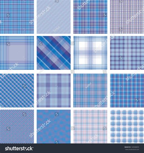 plaid pattern illustrator vector seamless background set plaid pattern vector stock vector