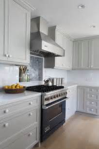 Light Grey Painted Kitchen Cabinets Gray Cabinets Contemporary Kitchen Benjamin Brushed Aluminum Fitz Design