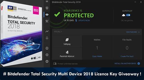 Bitdefender Total Security Giveaway - bitdefender total security multi device 2018 licence key giveaway tkw youtube