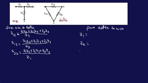 delta wye transformer calculations
