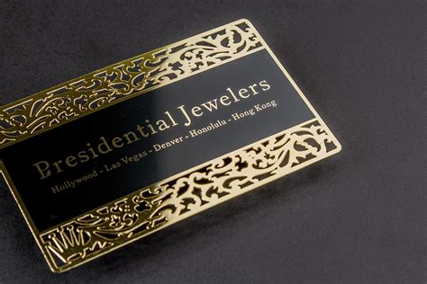 custom card gold metal business cards luxury printing