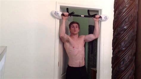 iron gym pull  bar quick fix  preventing damaged door