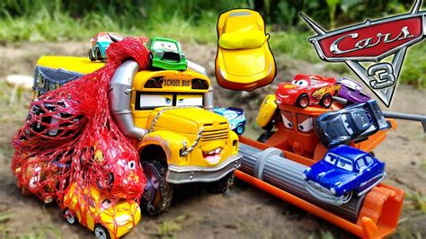 Cars Mini Racers Smokey disney cars 3 toys lightning mcqueen ramirez of miss fritter taking mini racers away