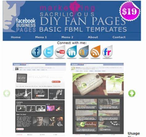 free fan page templates fan page templates fbml fan page