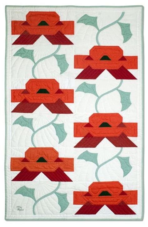 Poppy Applique Quilt Pattern by 131 Best Poppy Quilts Images On Flower Quilts