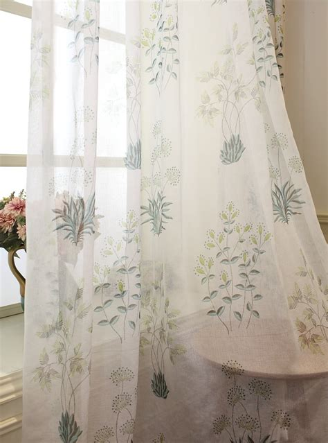 botanical print curtains beige curtain
