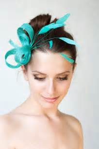 fascinators for hair jade green fascinator with feathers headpiece by bechicaccessories