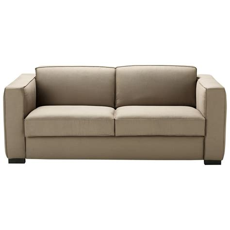 cotton sofas 3 seater cotton sofa bed in taupe berlin maisons du monde