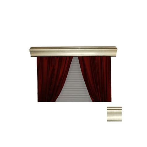 Metal Cornice shop bcl drapery sargento silver metal cornice at lowes