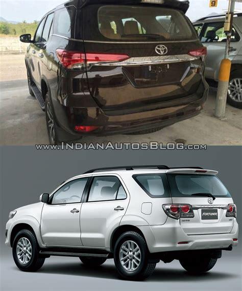 toyota old models 2016 toyota fortuner rear vs older model indian autos blog