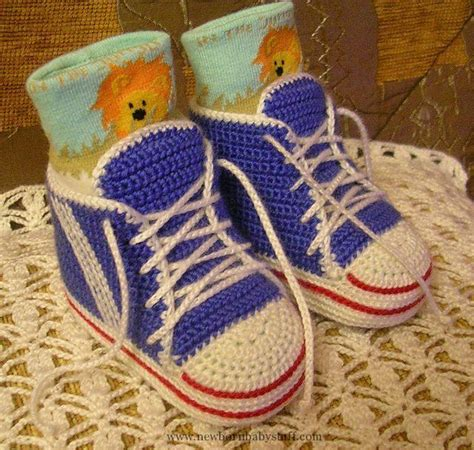 vans slipper pattern free crochet baby booties free pattern for quot baby high top