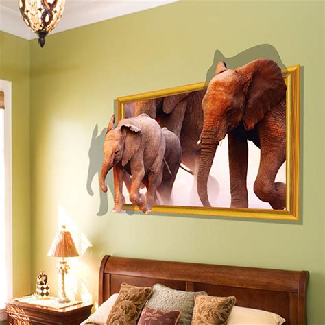removable animals window view wall sticker decals mural