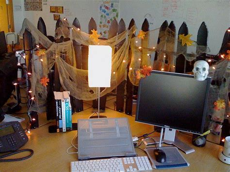 halloween desk halloween office halloween cubicle diy