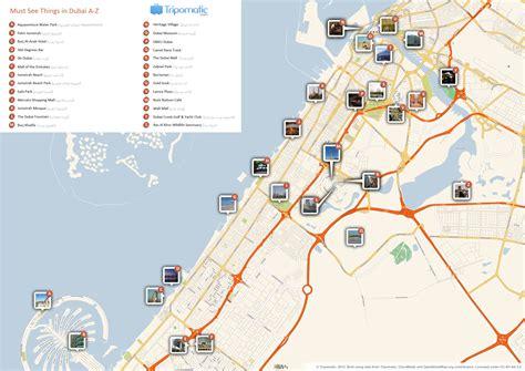 printable dubai road map file dubai printable tourist attractions map jpg