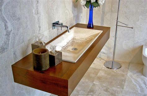 composizioni bagni moderni arredobagno moderno in legno e pietra greve io lavabo