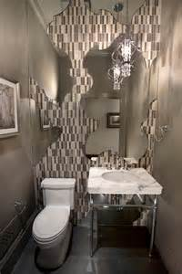 Powder Room Wall Decor Ideas Is That Wallpaper Behind The Fancy Mirror