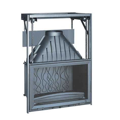 foyer 700 14kw en fonte invicta invicta fireplaces wide view 700 raisable 70 cm
