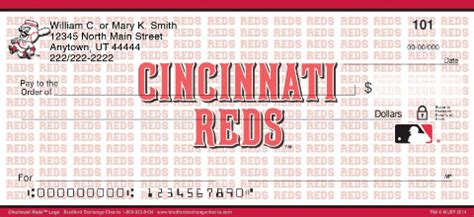 Uc Background Check Cincinnati Reds Mlb 174 Logo Personal Checks