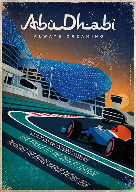 Swedish Style by Vintage Style F1 2016 Race Season Posters From Manor Racing Team