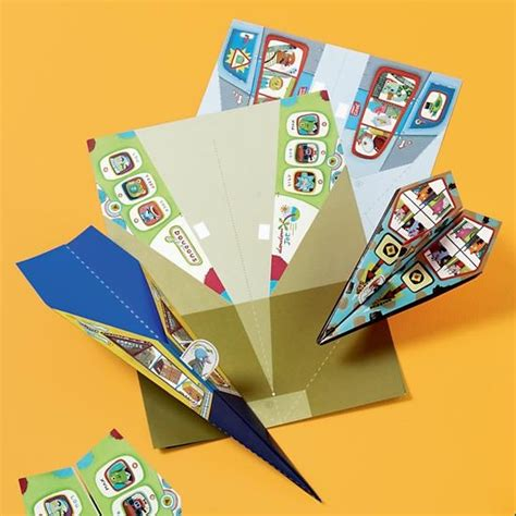 Paper Airplane Crafts For - paper airplanes kit in arts crafts the land of nod