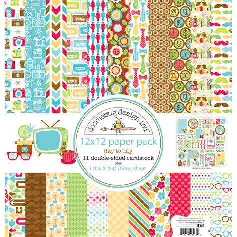 doodlebug accessories doodlebug day to day paper pack jo