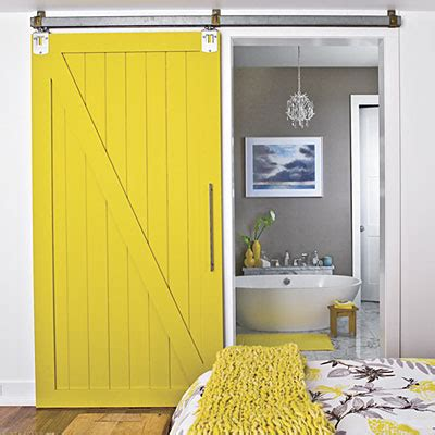 Yellow Barn Door Sliding Barn Doors Beyond The Farm