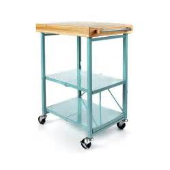 Origami folding kitchen island cart with casters d 20160804144103927