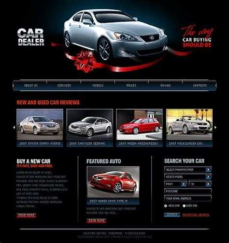 website templates for used car dealers car dealer templates auto dealer designs auto dealer