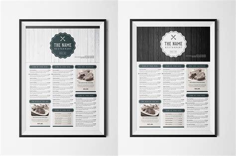 menu template illustrator food menu 7 illustrator template by luuqas design