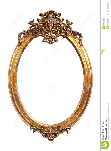 Wall Decor Stickers Online Shopping oval gold vintage frame stock photo image of gold frame