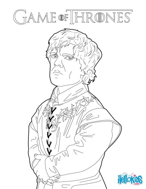 game of thrones tyrion lannister coloring pages