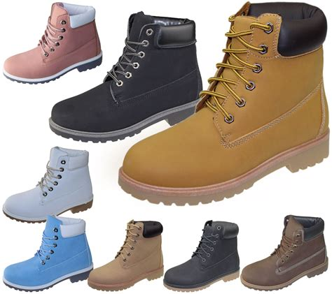 ladies ankle biker womens high top boots hiking desert combat ladies ankle