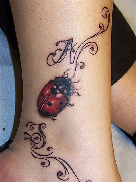 lady tattoo designs ladybug tattoos for and meaningful