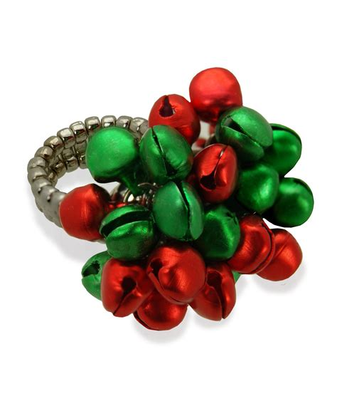 images of christmas ring women s christmas jingle bells stretch ring