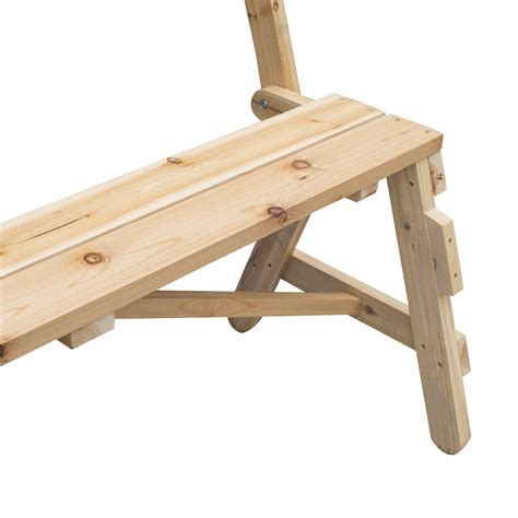 wooden bench table ebay outsunny 2 in 1 interchangable wooden picnic table garden