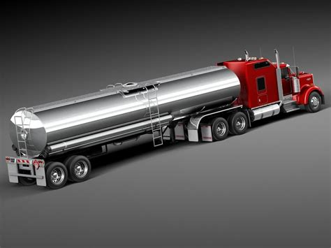 kenworth 2014 models kenworth w900 sleeper cab tanker 2014 3d model cgstudio